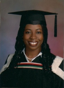 My McGill Law graduation photo. My go-to back then were single extension braids.