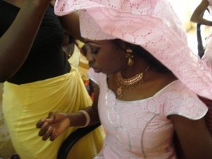Getting my Senegalese headtie